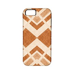 Fabric Textile Tan Beige Geometric Apple iPhone 5 Classic Hardshell Case (PC+Silicone)