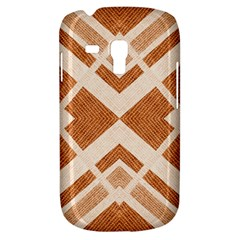 Fabric Textile Tan Beige Geometric Galaxy S3 Mini