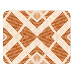 Fabric Textile Tan Beige Geometric Double Sided Flano Blanket (large)