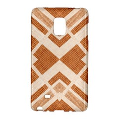 Fabric Textile Tan Beige Geometric Galaxy Note Edge