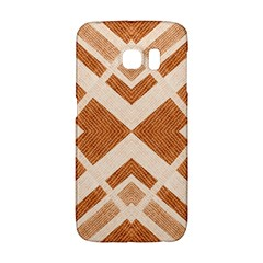 Fabric Textile Tan Beige Geometric Galaxy S6 Edge