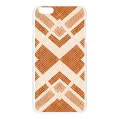 Fabric Textile Tan Beige Geometric Apple Seamless iPhone 6 Plus/6S Plus Case (Transparent)