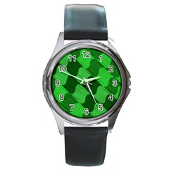 Fabric Textile Texture Surface Round Metal Watch
