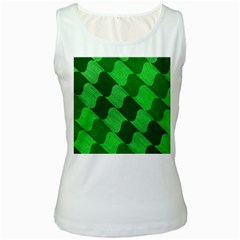 Fabric Textile Texture Surface Women s White Tank Top