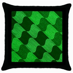 Fabric Textile Texture Surface Throw Pillow Case (Black)