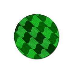 Fabric Textile Texture Surface Rubber Coaster (Round)