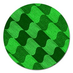 Fabric Textile Texture Surface Magnet 5  (Round)