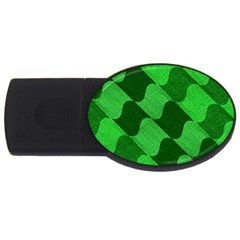Fabric Textile Texture Surface Usb Flash Drive Oval (2 Gb)