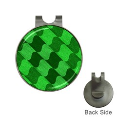 Fabric Textile Texture Surface Hat Clips with Golf Markers
