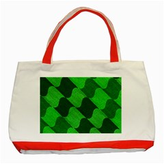 Fabric Textile Texture Surface Classic Tote Bag (Red)