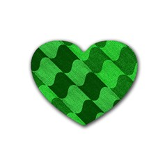 Fabric Textile Texture Surface Rubber Coaster (Heart)