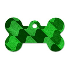 Fabric Textile Texture Surface Dog Tag Bone (One Side)