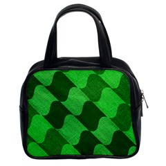Fabric Textile Texture Surface Classic Handbags (2 Sides)