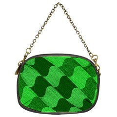 Fabric Textile Texture Surface Chain Purses (One Side)
