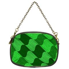 Fabric Textile Texture Surface Chain Purses (Two Sides)