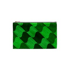 Fabric Textile Texture Surface Cosmetic Bag (Small)