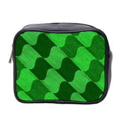 Fabric Textile Texture Surface Mini Toiletries Bag 2 Side
