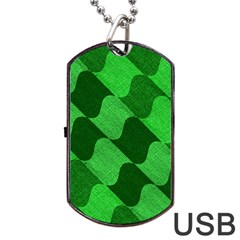 Fabric Textile Texture Surface Dog Tag Usb Flash (two Sides)