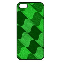 Fabric Textile Texture Surface Apple Iphone 5 Seamless Case (black)
