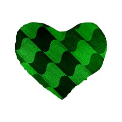 Fabric Textile Texture Surface Standard 16  Premium Heart Shape Cushions
