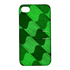 Fabric Textile Texture Surface Apple iPhone 4/4S Hardshell Case with Stand
