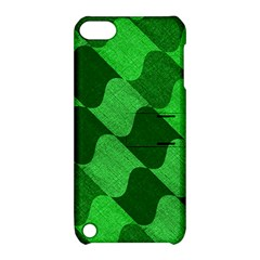 Fabric Textile Texture Surface Apple iPod Touch 5 Hardshell Case with Stand