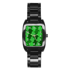 Fabric Textile Texture Surface Stainless Steel Barrel Watch