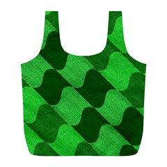 Fabric Textile Texture Surface Full Print Recycle Bags (l)