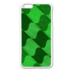 Fabric Textile Texture Surface Apple iPhone 6 Plus/6S Plus Enamel White Case
