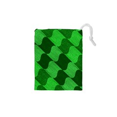 Fabric Textile Texture Surface Drawstring Pouches (XS)