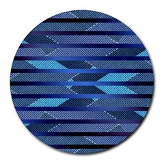 Fabric Texture Alternate Direction Round Mousepads