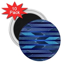 Fabric Texture Alternate Direction 2.25  Magnets (10 pack)