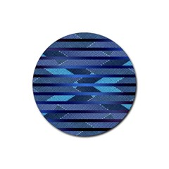 Fabric Texture Alternate Direction Rubber Round Coaster (4 pack)