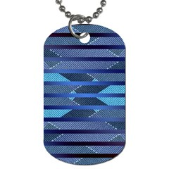 Fabric Texture Alternate Direction Dog Tag (Two Sides)
