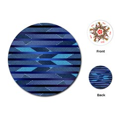 Fabric Texture Alternate Direction Playing Cards (Round)
