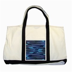 Fabric Texture Alternate Direction Two Tone Tote Bag