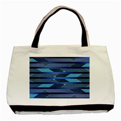 Fabric Texture Alternate Direction Basic Tote Bag (Two Sides)