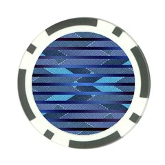 Fabric Texture Alternate Direction Poker Chip Card Guard
