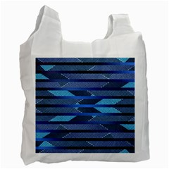 Fabric Texture Alternate Direction Recycle Bag (One Side)