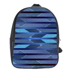 Fabric Texture Alternate Direction School Bags(Large)