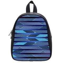 Fabric Texture Alternate Direction School Bags (small)