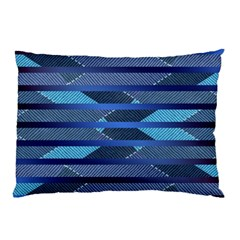 Fabric Texture Alternate Direction Pillow Case (Two Sides)