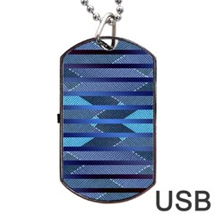 Fabric Texture Alternate Direction Dog Tag USB Flash (Two Sides)