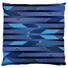 Fabric Texture Alternate Direction Large Cushion Case (one Side)
