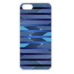 Fabric Texture Alternate Direction Apple Iphone 5 Seamless Case (white)