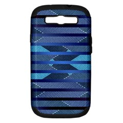 Fabric Texture Alternate Direction Samsung Galaxy S III Hardshell Case (PC+Silicone)