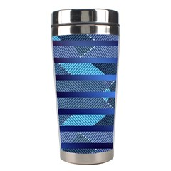 Fabric Texture Alternate Direction Stainless Steel Travel Tumblers