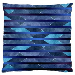 Fabric Texture Alternate Direction Large Flano Cushion Case (one Side)