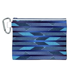 Fabric Texture Alternate Direction Canvas Cosmetic Bag (L)