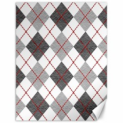 Fabric Texture Argyle Design Grey Canvas 12  x 16